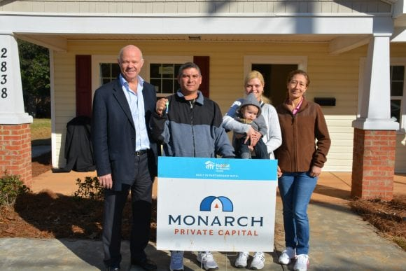 Habitat Charlotte & Monarch Private Capital Home Dedication January 11
